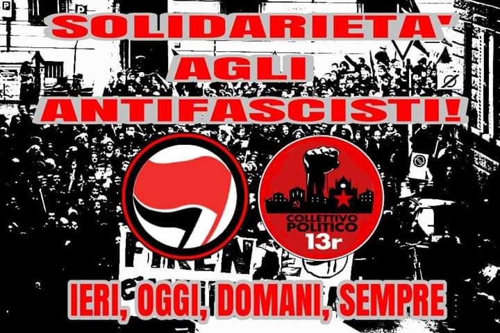 Solidarietà per gli antifascisti